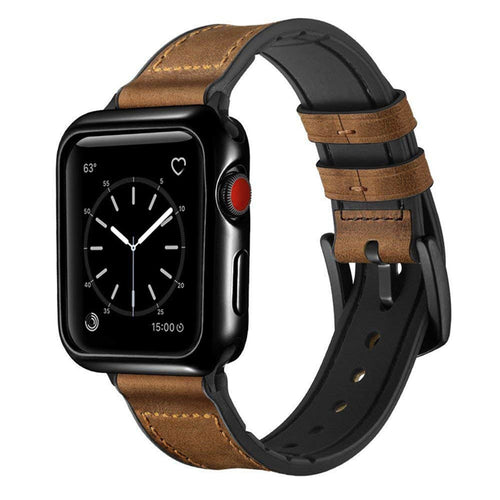 42mm Light Brown Leather Luxury Watchband And Protective Case for Apple™ Watch