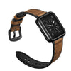 42mm Light Brown Leather Luxury Watchband And Protective Case for Apple Watch