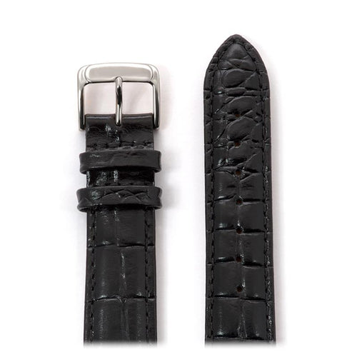 Men's Alligator Grain Leather Band in Black, Brown, Red and White