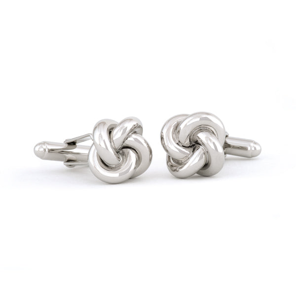 Sterling Silver Love Knot Cuff Links