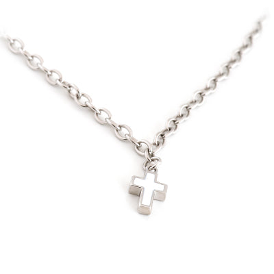 Sterling silver Necklace with Cross Charm