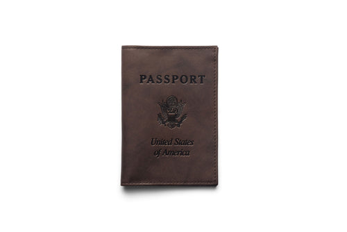Leather Passport Book Cover In Brown Or Black