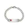 Children's Stainless Steel  Medilog Plaque and Bracelet