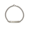 Children's ID Bracelet with Cut Out Cross Plaque Silver & Gold Tone