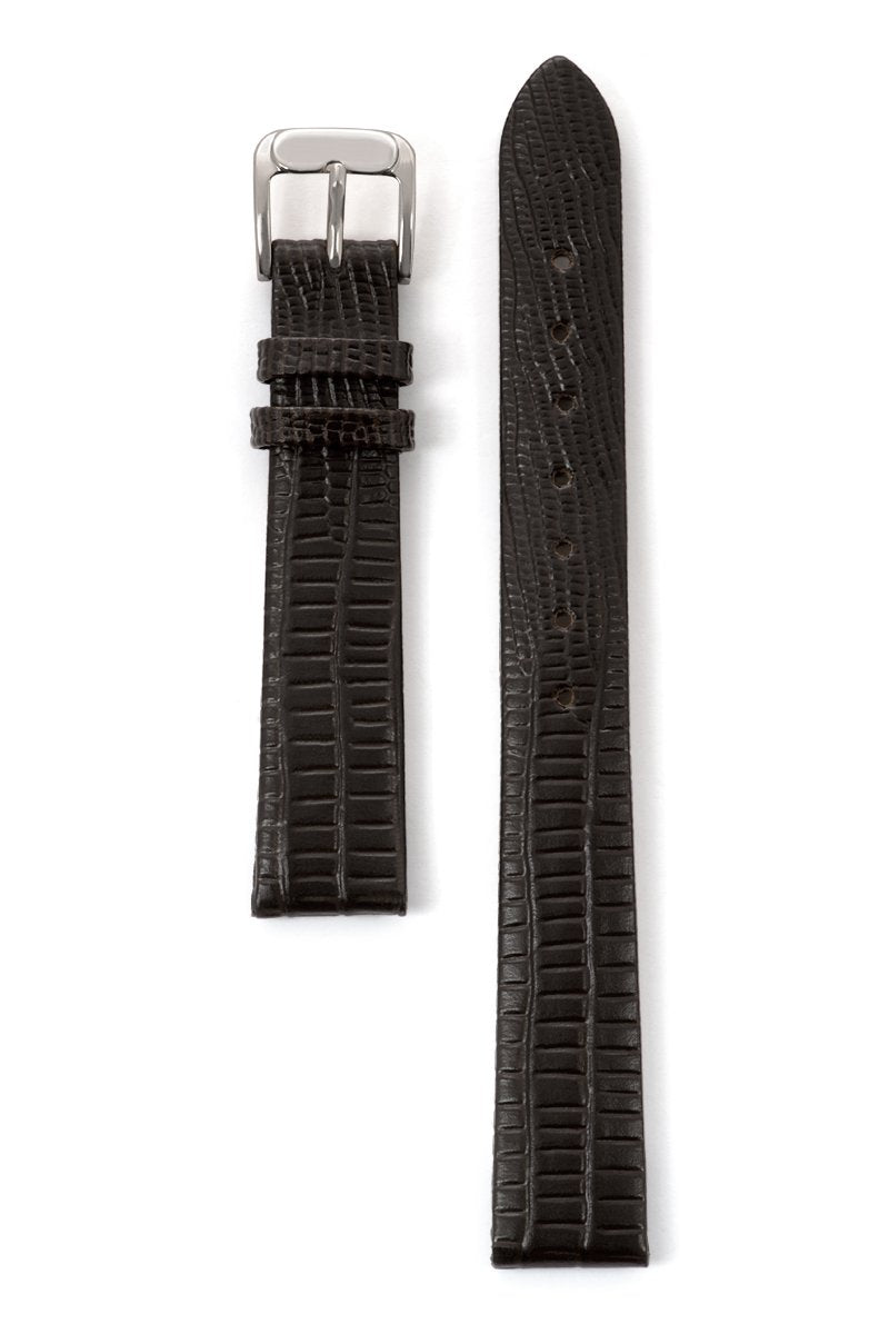 Ladies' Gator Lizard Grain band in Black and Brown