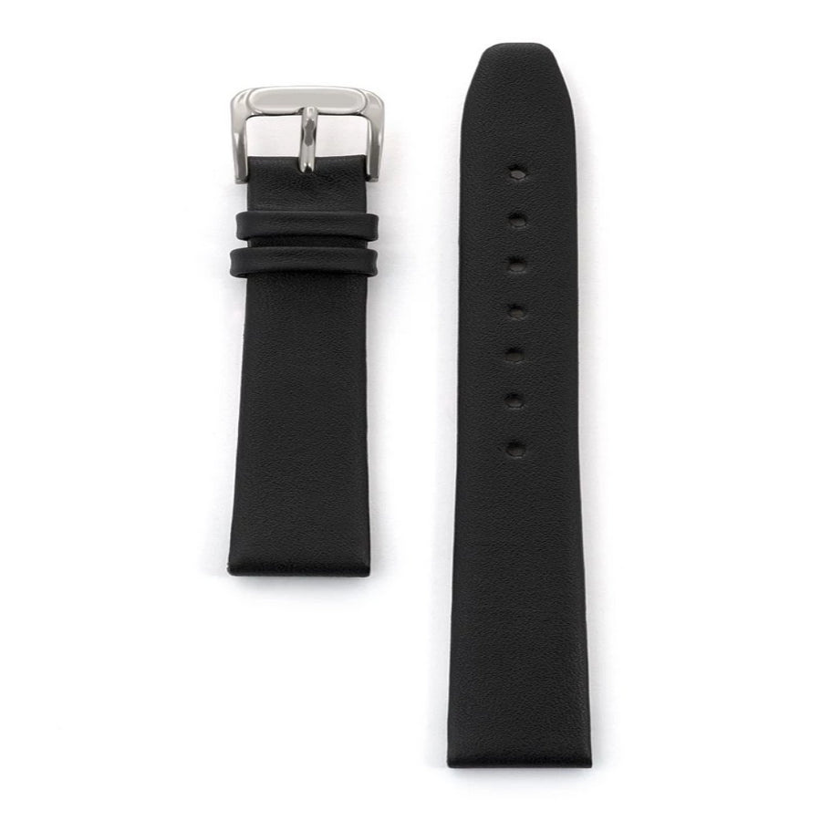 Ladies Classic Calfskin Leather Band in Black