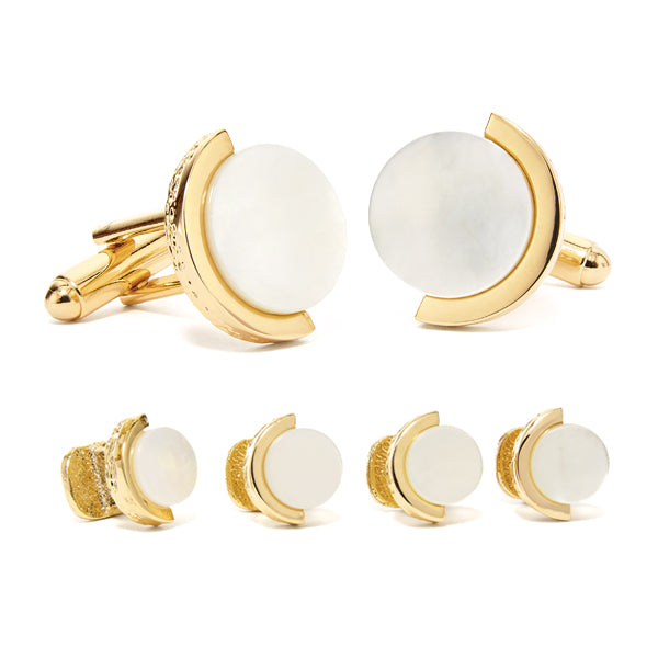 Mother of Pearl Cuff Link & Stud Set