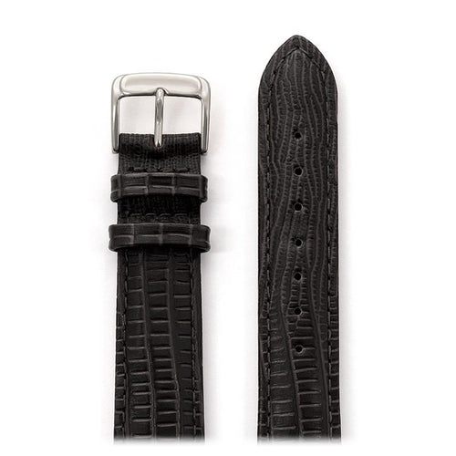 Ladies Padded Gator Lizard Bands in Black and Brown