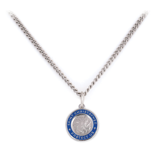 Sterling Silver St. Christopher Necklace