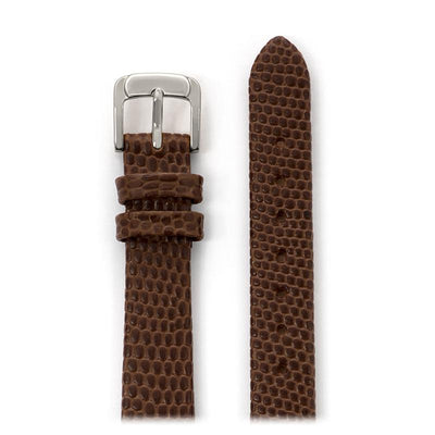 Ladies Lizard Grain Band in Black, Brown, Red, White, Blue