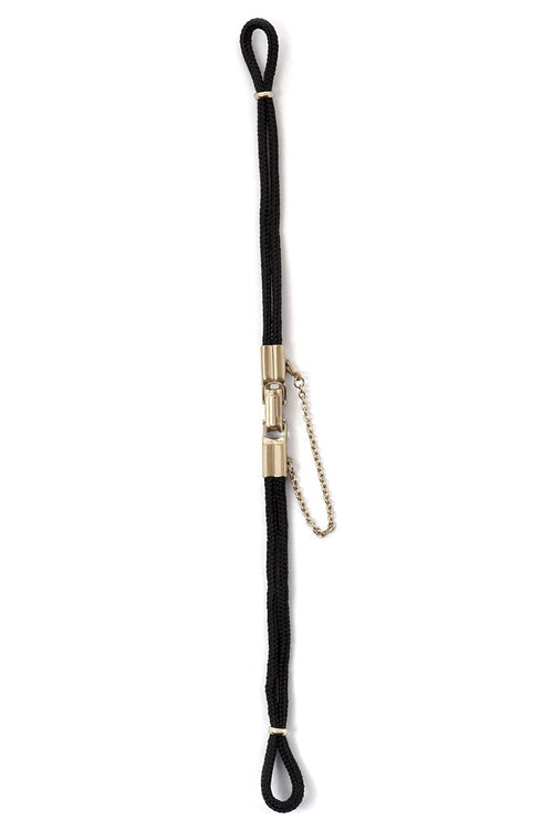 Ladies Black Nylon Cord with Silver or Gold Clasp