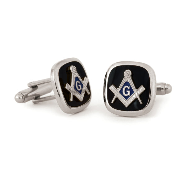 Masonic w/Jet Cuff Links