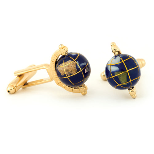 Spinning Globe Cuff Links