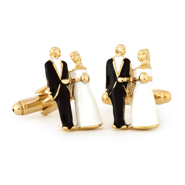 Bride & Groom Cuff Links