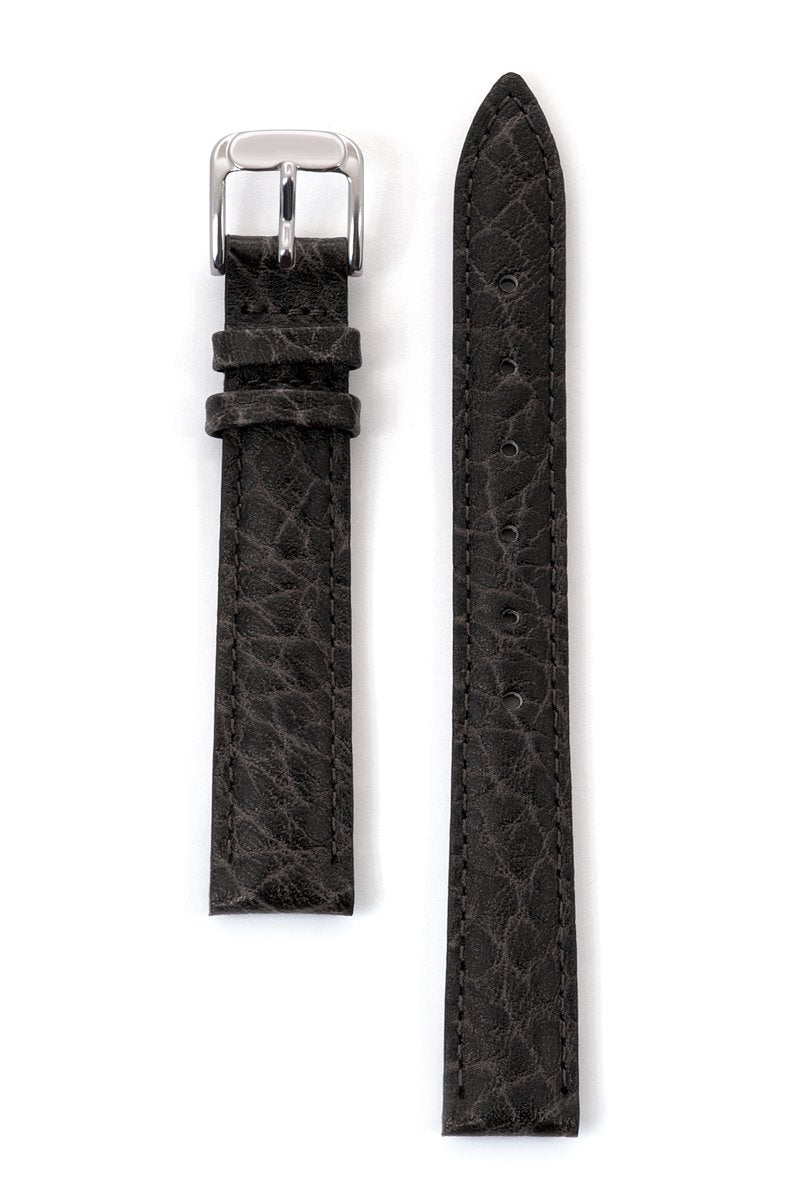 Ladies' Heavy Texture Buffalo Grain Leather Band in Black, Brown and Honey