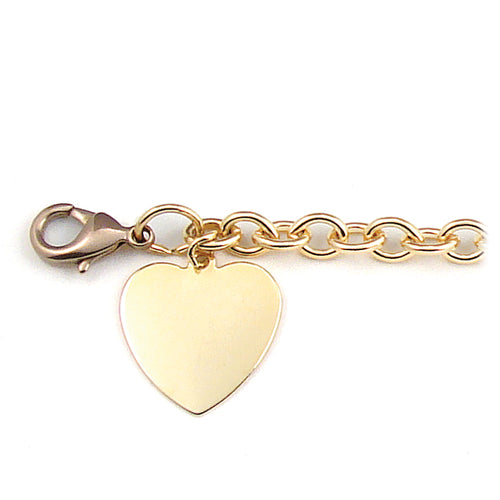 Ladies' ID Bracelet with Polished Heart Charm