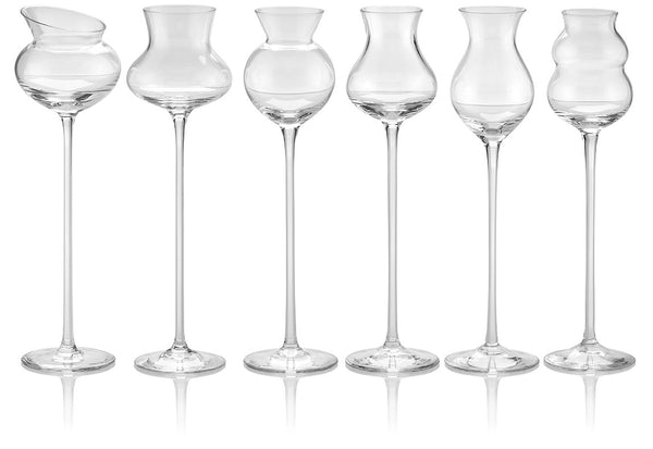 I DISTILLATI SET 6 ASSORTED TASTING GLASS CLEAR