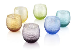 MULTICOLOR SET OF 6 TUMBLERS ASSORTED COLOURS