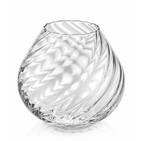NUVOLA VASE H. 17 CM TWISTED OPTIC CLEAR