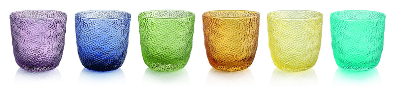 TRICOT SET 6 LIQUEUR GLASSES ASSORTED COLOURS