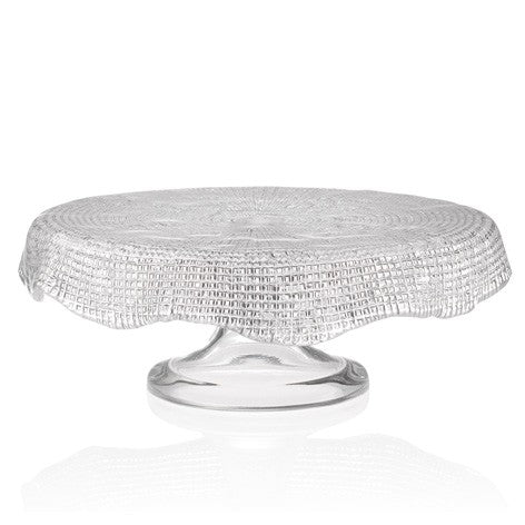 DIAMANTE' FOOTED CAKE PLATE