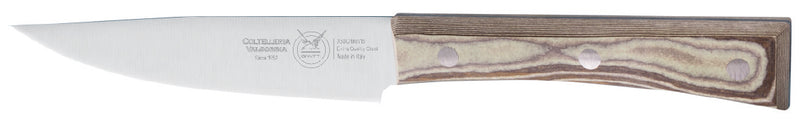 WIDE STEAK KNIFE CM 12 SHARPENED PAPERSTONE - total profile with PAPERSTONE handle and INOX rivets - 4 KNIFES