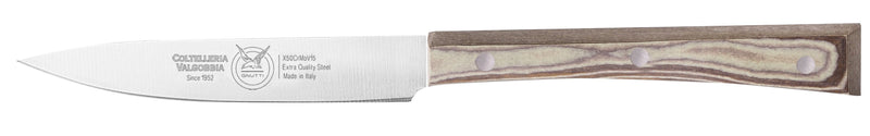 COOKS KNIFE CM 11 PAPERSTONE - total profile with PAPERSTONE handle and INOX rivets