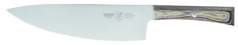 COOKS KNIFE CM 24 PAPERSTONE - total profile with PAPERSTONE handle and INOX rivets