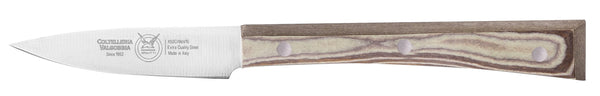 COOKS KNIFE CM 8 PAPERSTONE - total profile with PAPERSTONE handle and INOX rivets