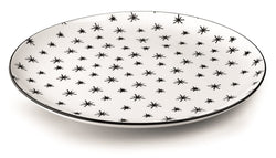 PIZZA PLATES WITH BLACK PAD PRINTING STELLE