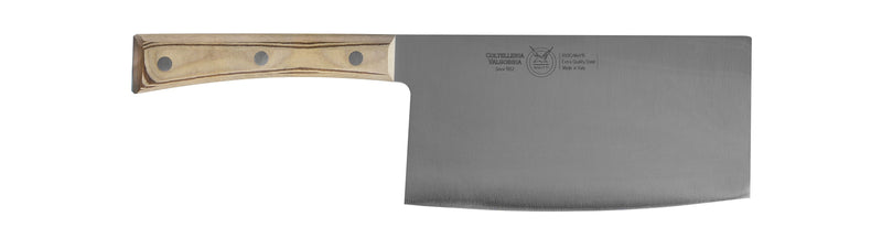 CHINESE CLEAVER CM 18 PAPERSTONE - total profile with PAPERSTONE handle and INOX rivets