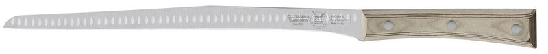 NARROW FLEX SALMON KNIFE CM 28 PAPERSTONE - total profile with PAPERSTONE handle and INOX rivets