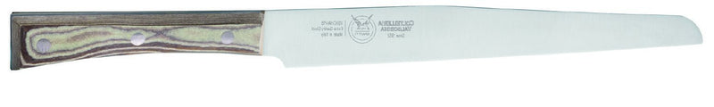 SALAMI KNIFE CM 24 PAPERSTONE - total profile with PAPERSTONE handle and INOX rivets