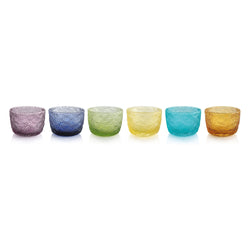 TRICOT SET 6 INDIVIDUAL BOWLS  ASSORTED COLORS