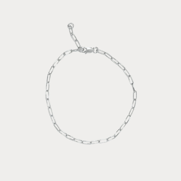 Silver Staple Chain Bracelet