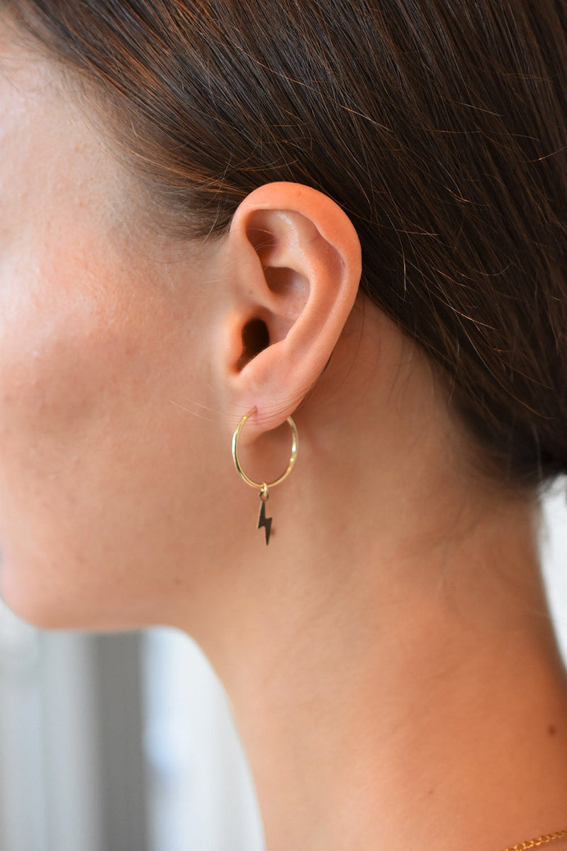 Lightning Hoop Earrings
