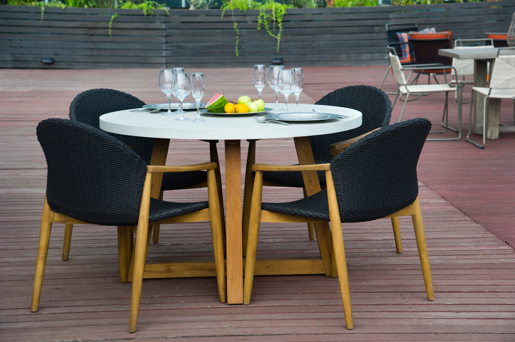 Mika Round Dining Table - Anthracite