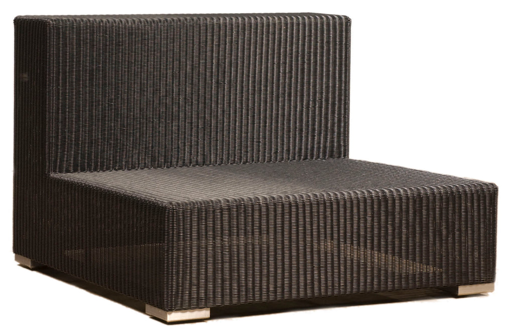 Aspen Cord Middle Seat - Large - Black - Including Sunbrella Cushions