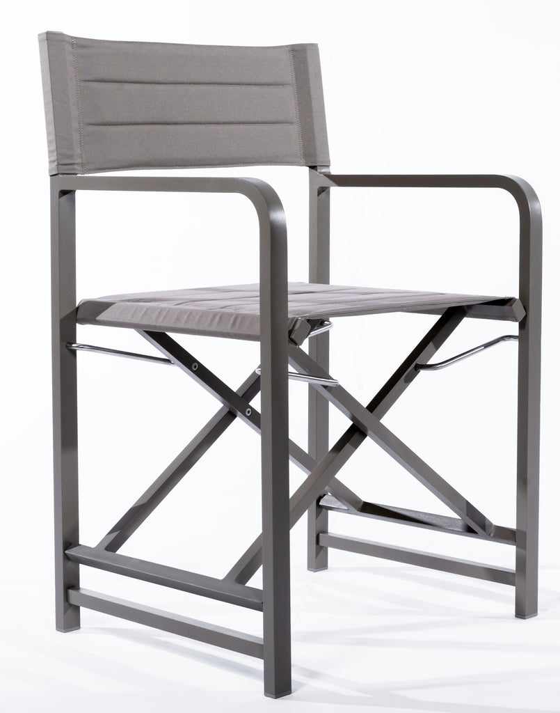 Director Chair - Mud Grey Frame - Cartenza 161 Fabric