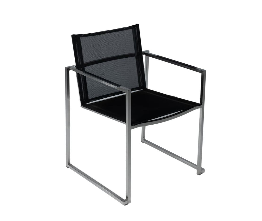Adonis Dining Arm Chair Chair - Black