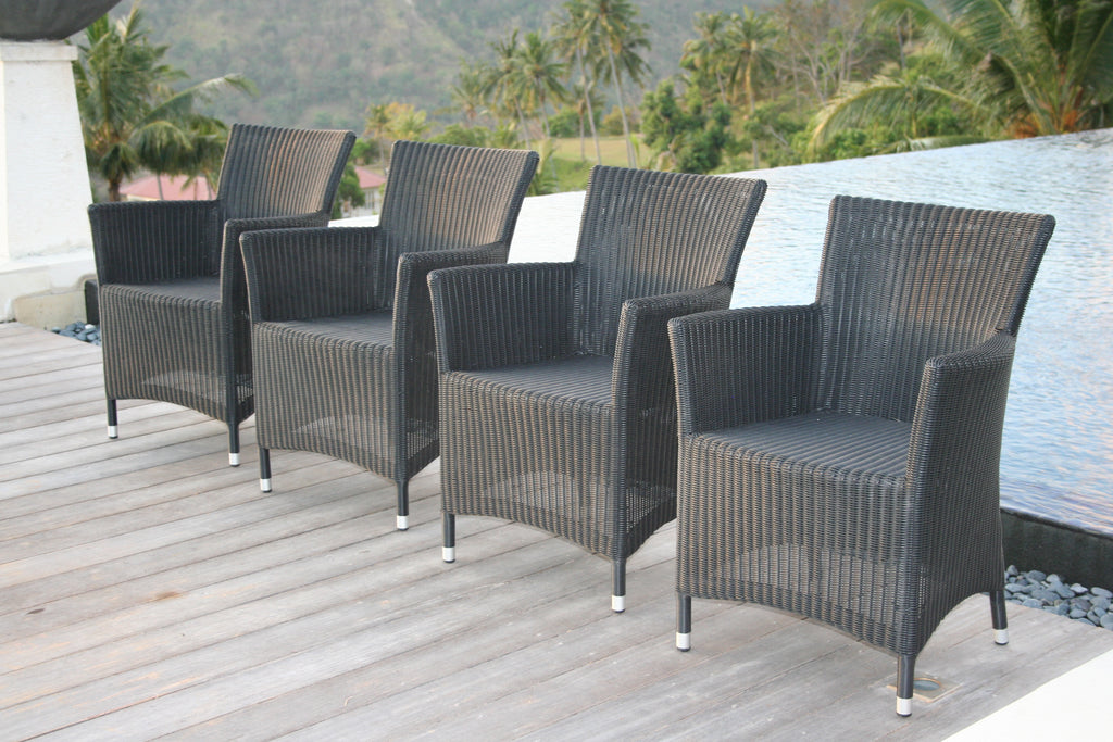 Hawaii Arm Chair - Black