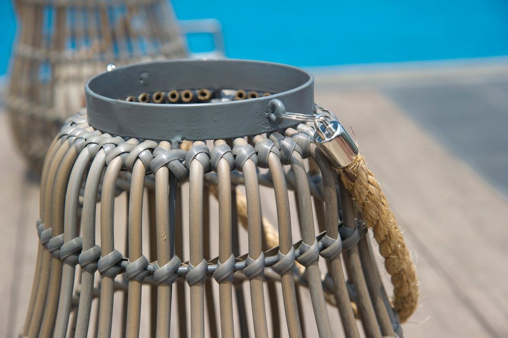 St. Tropez Spokes Lantern - Grey Brown