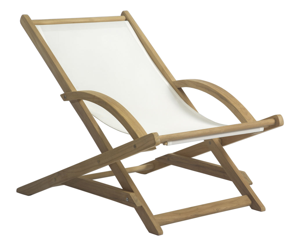 Borneo Beach Lounge Chair - White Sling