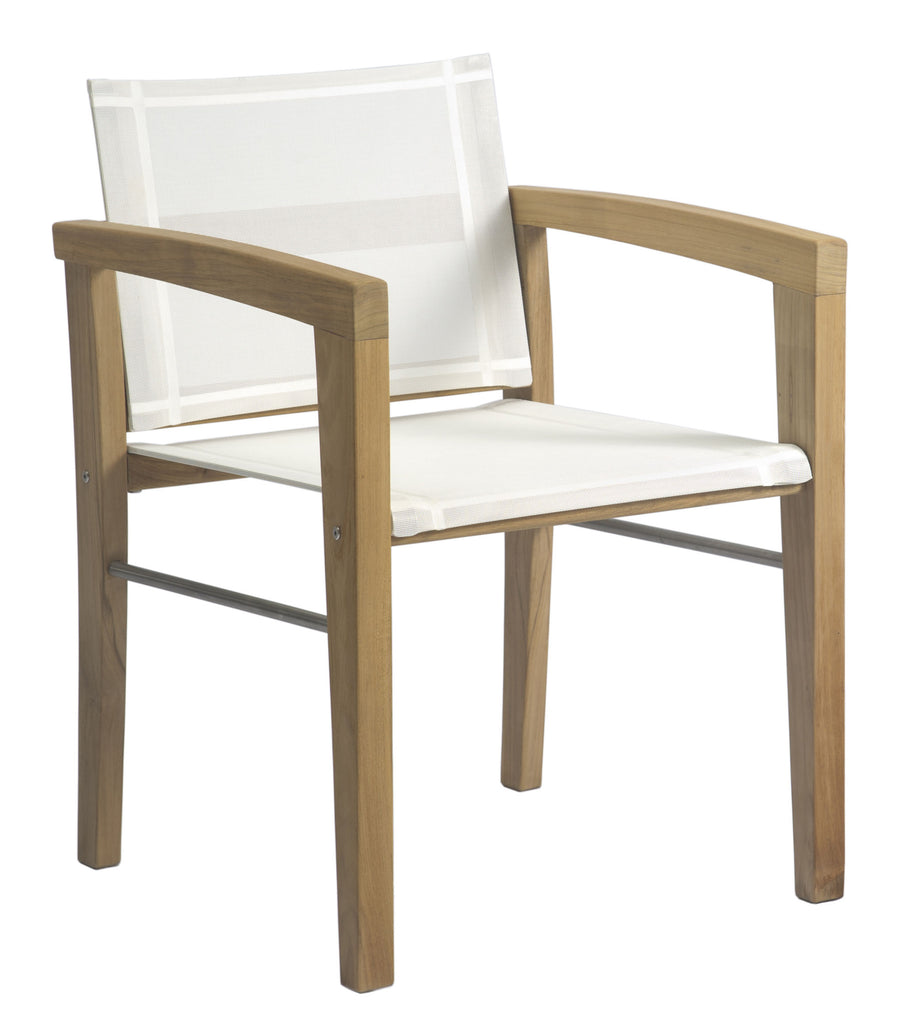 Borneo Dining Arm Chair - White Sling