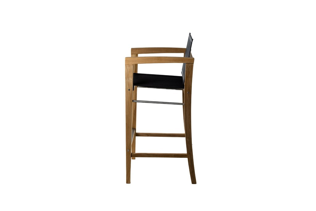 Borneo Bar Chair with Arms - Black Sling