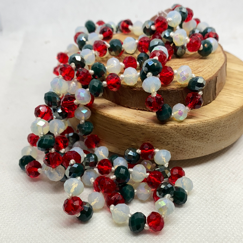 "60"" BEAD NECKLACES- CHRISTMAS BLEND"