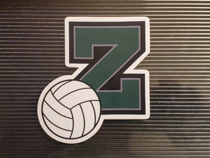 Z Volleyball Sticker