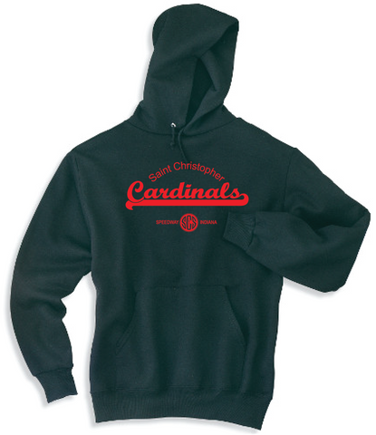 St. Christopher JERZEES® - NuBlend® Pullover Hooded Sweatshirt Black