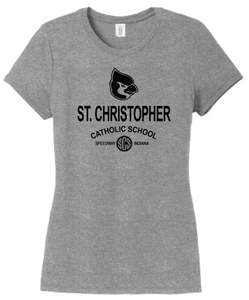 St. Christopher District Made Perfect Tri Ladies T-Shirt - Grey Frost
