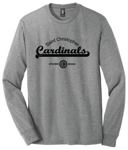 St. Christopher District Made Perfect Tri Long Sleeve T-Shirt - Grey Frost